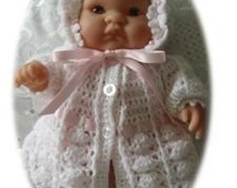8 inch Itty Bitty Doll Crochet Pattern 4 piece - Jasmine