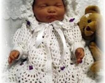 Baby Crochet Pattern Jacket and Bonnet - Summertime Breeze