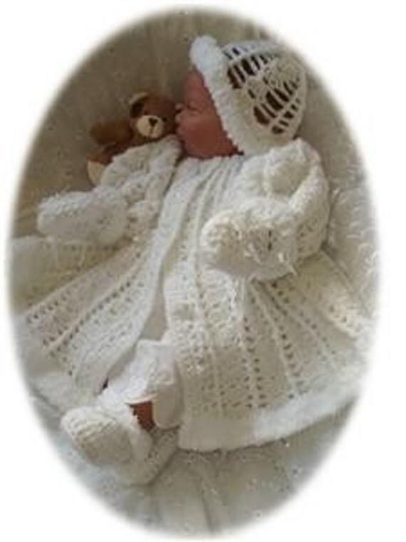 Baby Crochet Pattern 4 piece - HOLLY