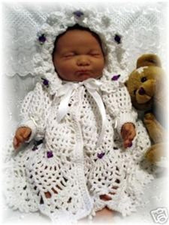 Baby Crochet Pattern Jacket and Bonnet - Summertime Breeze