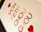 Mon Petit Chou Chou Poster in Red