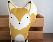 CLEARANCE: Yellow Fox Pillow Nursery Decor, Home Decor