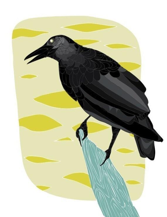 Black Bird 8x10 Print by GingiberSnap