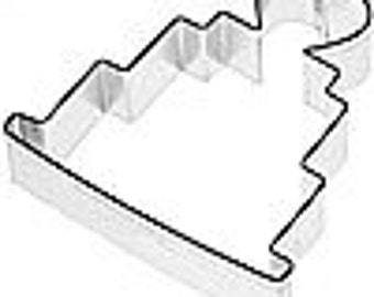 WEDDING CAKE cookie cutter, layered cake  w/ heart top cookie cutter,