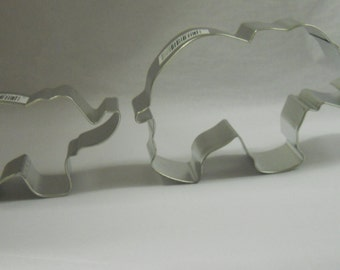 Elephant Cookie Cutter set of 2 Elephants Momma & baby, Zoo cookie cutter