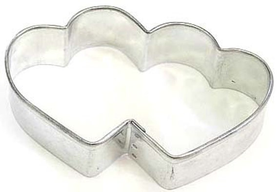MINI Double Heart Cookie Cutter, Valentine's Day, Wedding cookie cutter