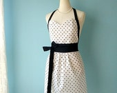 Sweetheart Apron in White Dots with Free Personalization