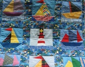 COME SAIL AWAY quilted wall hanging