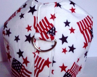 American Flag Harness and Matching Lead - 4 Sizes Available