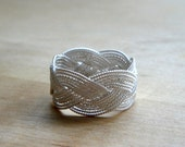 NEW OOAK Sterling Silver Braided Ring - by timA - Custom Made to Order