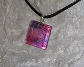 Wearable Art Necklace and Card - gift set