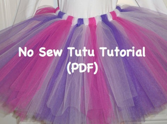 Easy No-Sew Tutu Pattern by Sunset Crochet | Sewing Pattern