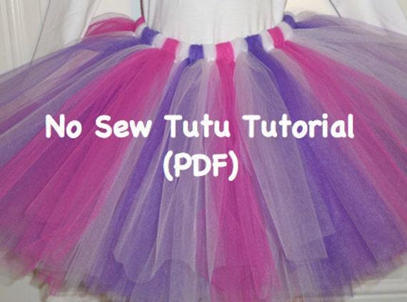 Easy No-Sew Tutu Pattern by Sunset Crochet | Sewing Pattern