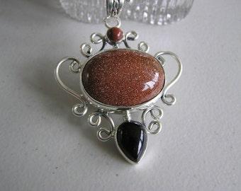 Glistening Sand (Goldstone Necklace)