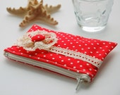 Red Mini Polka Dots Coin Purse