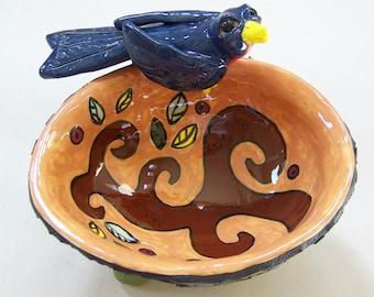 HARVEST BOWL - On SALE - Ceramic Decorative Bird Bowl - Custom Pieces Available Upon Request