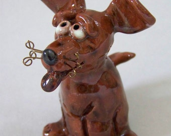 Brown Dog Sculpture Item 1011 - Custom Pieces Available Upon Request