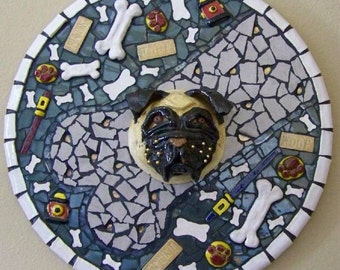 BONE BANDIT - Mosaic Pug Mask Picture - Custom Pieces Available Upon Request