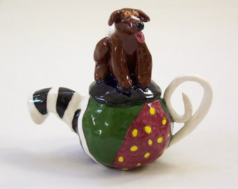 Teapot Taylor Dog Sculpture ***ON SALE*****- Custom Pieces Available Upon Request