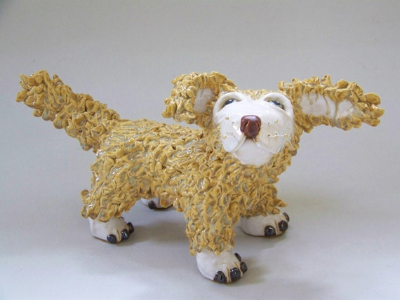 FRECKLES - ON SALE - Golden Retriever Sculpture - Custom Pieces Available Upon Request