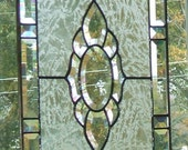 Beveled Victorian Stained Glass Window Panel