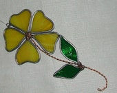 Yellow Flower Stained glass Sun catcher