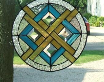 Round Stained Glass Suncatcher Panel