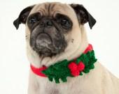 Holly Leaf Dog Collar