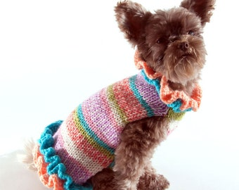 Pullover Knit Dog Sweater Dress