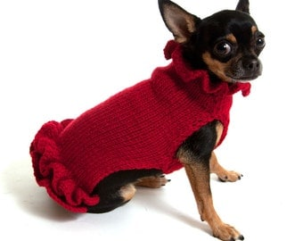 Pullover Dog Sweater Dress
