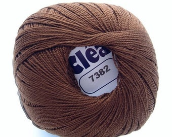 Clea Chocolate Brown size 10 crochet cotton thread yarn new  - free ship - richipy