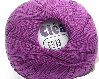 Clea 1000 Purple size 10 Crochet Cotton Thread Yarn - richipy
