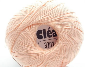 Clea 1000 Light Salmon/Peach size 10 Crochet Cotton Thread Yarn - richipy