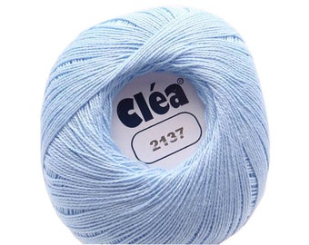 Free Ship Pastel sky blue size 10 crochet cotton thread yarn Clea lace New - richipy