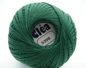 Free Ship Clea Dark Green size 10 Crochet Cotton Thread Yarn Knitting - richipy