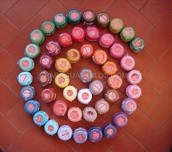 Lot 50 balls Rubi size 8 perle/pearl cotton threads crochet hand embroidery cross stitch hardanger - rainbow selection - richipy