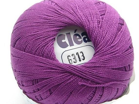 Clea Purple size 10 Crochet Cotton Thread Yarn - richipy