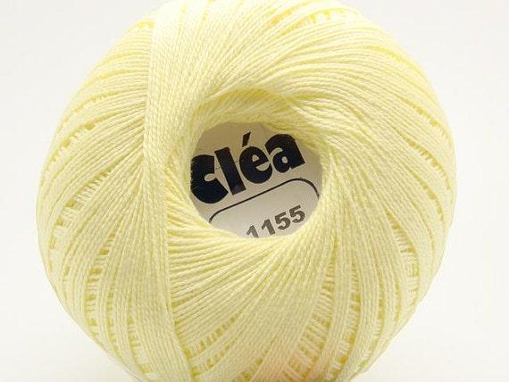 Free Ship Pale Yellow Banana Size 10 Crochet Cotton Thread Yarn Knitting - Clea - richipy