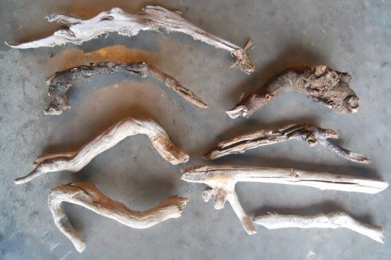8 Pieces Natural Driftwood Crafts Supplies Large