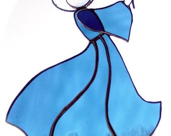 Teal blue angel