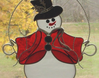 Red-vested snowman