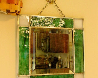 Small square beveled mirror