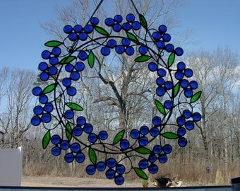 Blue Berry Wreath