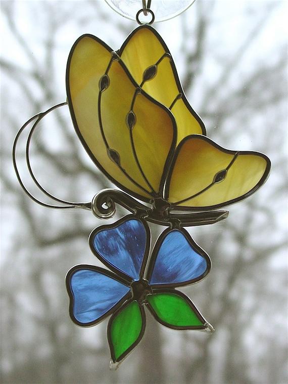 Yellow Butterfly Suncatcher