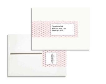 Printable Envelope Wrap Editable PDF for A7 envelopes in Washi style 1