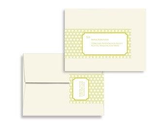 Honeycomb Envelope Wrap Printable Editable PDF