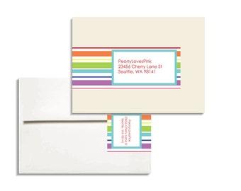 Printable Editable Envelope Wrap in Stripes PDF