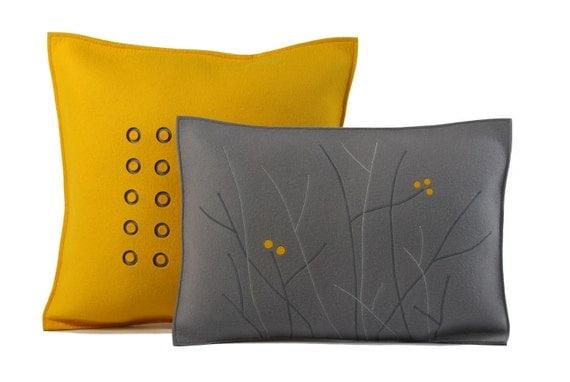 Yellow Berry Pillow