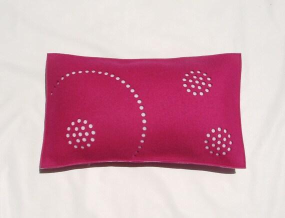 Fuschia Circles Pillow - SALE