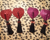 Sparkly Valentine's Day Heart Pasties - Red or Pink